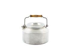 Jeden galwanizujący herbaciany czajnik odizolowywający zdjęcie royalty free