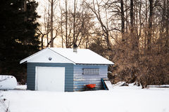 jeden garaż samochodowy Fotografia Royalty Free