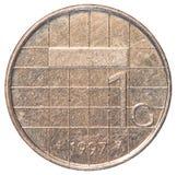 jeden holenderskiego guldenu moneta Zdjęcie Stock