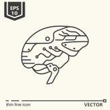 Jeden ikona sztuczny mózg Zdjęcie Stock