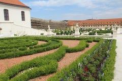 Jeden jardy Bratislava kasztel - piękny baroku ogród Zdjęcie Stock