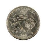 Jeden jednocząca stanu kwartalnego dolara moneta 2000 odizolowywająca obrazy stock