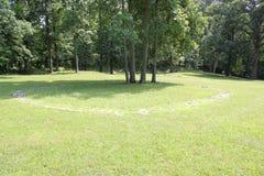 Jeden Kamienny okrąg przy fortu stanu Antycznym pomnikiem Zdjęcie Royalty Free