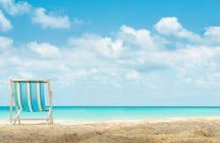 Jeden kanwy plażowy łóżko na plaży Obraz Royalty Free