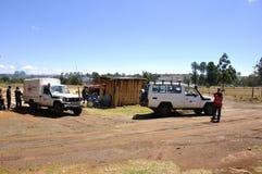 Jeden 10 Kenja czerwonego krzyża szalunku miejsc dla odbudowa kenijczyka zdjęcia stock
