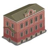 Jeden klasyk domowa wysokość z trzy podłoga ilustracja wektor