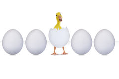 Klujący się jajko odizolowywający na bielu ilustracja wektor