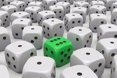 Jeden kostka do gry jest różny ilustracja wektor