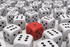 Jeden kostka do gry jest różny ilustracji