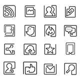 Jeden kreskowa ikona Zdjęcie Stock