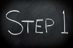 jeden krok Obraz Stock