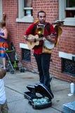 Jeden mężczyzna zespół zabawia w Lancaster Obrazy Royalty Free