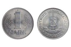 Jeden Mark moneta Fotografia Royalty Free