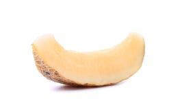 Jeden melonu plasterki na białym tle Zdjęcie Royalty Free