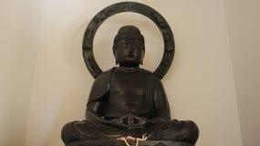 Jeden metalu Buddha Japoński styl zdjęcia stock