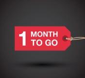 Jeden miesiąc iść znak Obrazy Stock