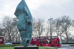 Jeden Nic Fiddian zieleni końskiej głowy rzeźba Obrazy Stock