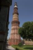 Jeden Nowy Delhi UNESCO światowego dziedzictwa trzy miejsca, Qutub Minar, New Delhi, India Zdjęcia Stock