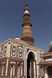 Jeden Nowy Delhi UNESCO światowego dziedzictwa trzy miejsca, Qutub Minar, New Delhi, India Obrazy Royalty Free