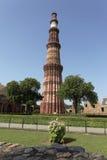 Jeden Nowy Delhi UNESCO światowego dziedzictwa trzy miejsca, Qutub Minar, New Delhi, India Obrazy Stock
