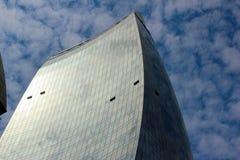 Jeden płomień Góruje drapacze chmur w Baku Zdjęcia Royalty Free