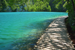 Jeden piękni miejsca w Plitvice, Chorwacja światowych - Zdjęcie Stock