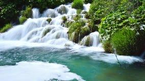 Jeden piękni miejsca w Plitvice, Chorwacja światowych - Obraz Stock