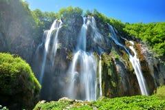 Jeden piękni miejsca w Plitvice, Chorwacja światowych - Zdjęcia Stock