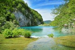 Jeden piękni miejsca w Plitvice, Chorwacja światowych - Obraz Royalty Free