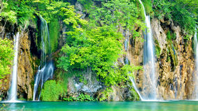Jeden piękni miejsca w Plitvice, Chorwacja światowych - Fotografia Stock