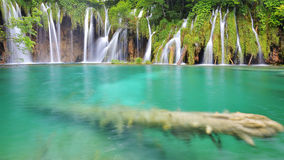 Jeden piękni miejsca w Plitvice, Chorwacja światowych - Fotografia Royalty Free