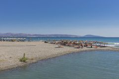 Jeden plaża na Crete Zdjęcie Stock