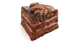 Jeden plasterek czekoladowy tort Obraz Royalty Free