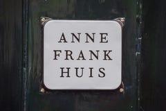 Jeden popularni przyciągania w Amsterdam AMSTERDAM LIPIEC - Anne Frank muzeum i dom - holandie - zdjęcie royalty free
