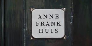 Jeden popularni przyciągania w Amsterdam AMSTERDAM LIPIEC - Anne Frank muzeum i dom - holandie - fotografia stock
