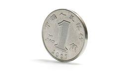 Jeden porcelanowa srebna moneta Obraz Stock