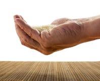 Jeden ręka ryż Zdjęcia Stock