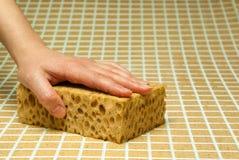 Jeden ręka w kroplach Zdjęcie Stock