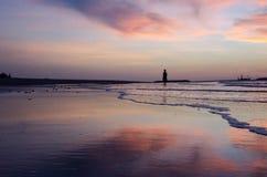 Jeden ranek na plaży Fotografia Royalty Free