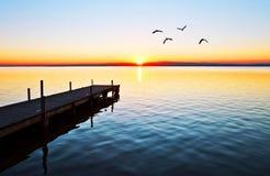 Jeden ranek w jeziorze obrazy stock