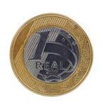 Jeden real moneta Zdjęcia Royalty Free