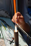 Produkcja szklani rzemiosła Zdjęcia Royalty Free