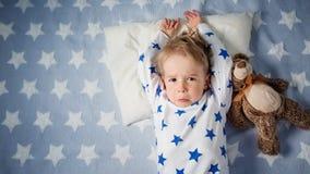Jeden roczniaka dziecka płacz fotografia royalty free