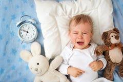 Jeden roczniaka dziecko z budzikiem Obraz Stock