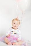Jeden roczniaka urodziny portrety zdjęcia stock