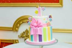 Jeden roku tort Obrazy Royalty Free