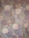 Jeden rupii notatki obrazy royalty free