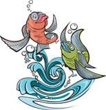 Jeden ryba Dwa ryba Fotografia Stock