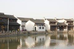 Jeden słoneczny dzień Yuehe Stara ulica Jiaxing, Zhejiang (, porcelana) zdjęcie royalty free