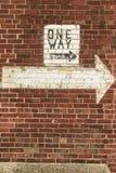 Jeden sposób ściana Zdjęcie Stock